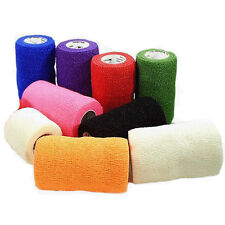 10 ROLLS EQUESTRIAN JUMPING CSCHOOLING EXERCISE COHESIVE VETWRAPS BADAGES WRAPS