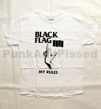 Black Flag - My Rules White t-shirt - Official - FAST SHIP