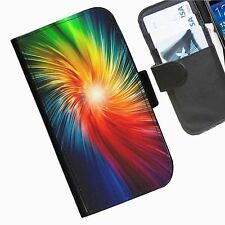 Colour Leather wallet mobile phone Skin case Personalised iPhone