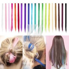 Fashion New Long Straight Rainbow Colourful Clip In Hair Extension Wig Hairpiece