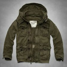 Abercrombie & Fitch Mens Morgan Mountain Jacket  Coat Olive Large NWT