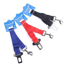 Dog Pet Puppy 3 Color Safety Car Vehicle Seat Belt Harness Lead Clip Adjustable