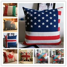 Soft Comfort National Flag Sofa Pillowslip Cases Chenille Cushion Covers Case LD