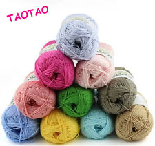 Soft Natural Bamboo Cotton Hand washable Knitting Yarn Fingering 29 Colors