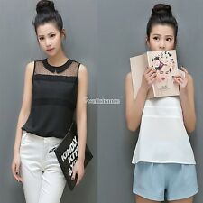 2014 New Summer Sexy Ladies Women Lace Blouse Shirt Doll Crew Neck Collar Tops
