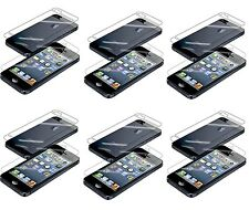 12 pcs 6x(Front+Back) Screen Saver Cover HD and Matte Film For iPhone 4 4S 5 5S
