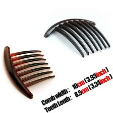 20pcs/lot Women Ladies 2 color Resin French Twist Hair Combs thick hair 7 teeth