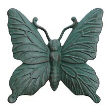 Cast Iron Verdigris Butterfly Wall Mounted Garden Ornament Wall Mountable Art
