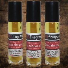 100% Pure and Thick SANDALWOOD Body Oil 1/3oz Roll-On