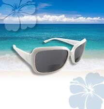 Hawaiian Lenses - Sunglasses with Readers - Cabana White- Style HL-109