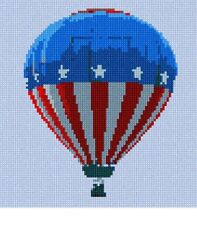 Hot Air Balloon Patriotic Needlepoint Kit or Canvas NEW Painted Needle Point