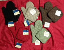 Cotton Pot Holders Sets Oven Mits Mitt Glove Brand New Heat Resistant Protector