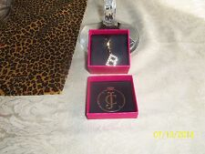 AUTHENTIC Juicy Couture INITIAL Pave Crystal GOLD TONE Charm Bracelet NIB $28