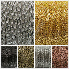 5/10M Silver Golden Plated Cable Open Link Iron Metal Chain Findings DIY 4×3mm