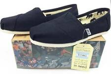 NEW TOMS SLIP ON WOMENS CLASSICS BLACK CANVAS SHOES FLATS ALL SIZES