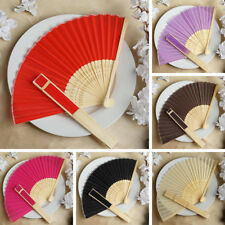 100 Summer SILK FOLDING FANS Wedding Party FAVORS Gift Decorations Supplies SALE