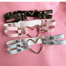 Double Studded Hollow Out Heart Rivet Leg Harajuku Garters Belt Handcrafted Ring