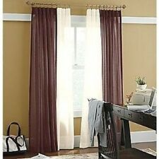 JCPenney home Linden Street Pinch Pleat SHEER Drapery Pair SOFT CREAM