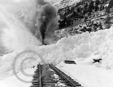 1925 RAILROAD ENGINE BUSTS THROUGH SNOW AVALANCHE PHOTO Largest Sizes
