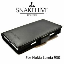 SNAKEHIVE® Genuine Real Leather Wallet Flip Case Cover for Nokia Lumia 930