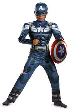 Boys Captain America Classic Muscle Halloween Costume