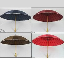 24K Beautiful Sun/Rain Umbrella Parasol Compact for Bridal Wedding Party Decor
