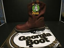 "GEORGIA BOOT 12"" WELLINGTON WATERPROOF PULL-ON WORK BOOT' #G4254"