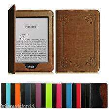 "2012 2013 2014 & 2015 All-New Kindle Paperwhite 6"" Leather Case Cover Wake/Sleep"