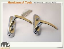Solid Brass Lever Latch Door Handle Set Multi-Style Model Polished / Zinc Plated