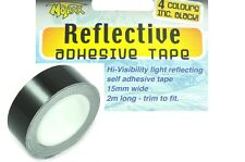 HI VISIBILITY REFLECTIVE TAPE 2 METRE ROLL 15mm*BE SAFE NOT SORRY* BLACK £2.99ea