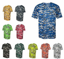 MEN'S WICKING & ANTI-MICROBIAL T-SHIRT, DIGITAL CAMO DESIGN, S M L XL 2X 3X 4X