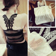 Sexy Women's Floral Lace Vest Sleeveless Stretch Boob Tube Top Bandeau Bra Cami