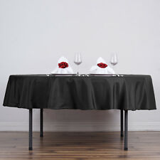 "10 90"" Round Polyester Tablecloth Wedding Party Table Linens Wholesale Supplies"