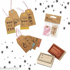 TALKING TABLES THE WRAPPING ROOM VINTAGE GIFT PRESENT TAGS SLOGAN LUGGAGE