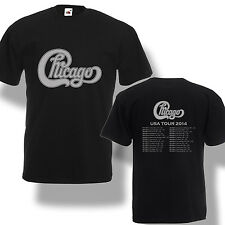 Chicago The Band Tour Dates 2014 T-Shirt Legend Rock Concert Men Shirt S-2XL