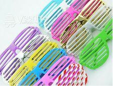 Full Shutter Glasses Shades Sunglasses Club Party white blue purple green pink A