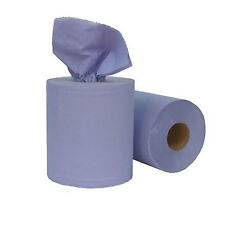 New 2 Ply Blue Centrefeed Roll Paper Towel Industrial - Home - Office