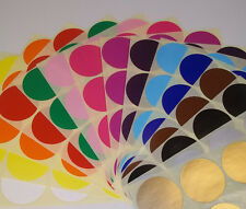 38mm 45mm Round Blank Price Stickers Colored Labelling Code Dots Sticky Labels