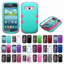 Impact Hard Case Hybrid TUFF Cover Case For Samsung Galaxy Prevail 2 Ring M840