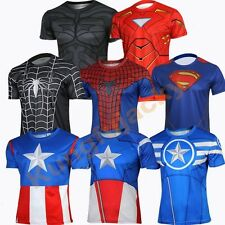 Captain America T Shirt Spider-Man Shirt Winter Soldier Tees Jersey Tops SzS-4XL