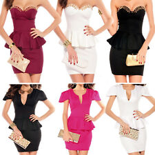 New Ladies Sexy Party Dress Cocktail Evening Dress Club Wear Mini Dress 8-14