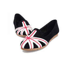 Latest National Flag Style Womens Fashion Cute Low Follow Shoes Flats Size 5-7