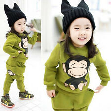 2PCS Spring Autumn Baby Boys Girls Suit Kids Long Sleeve Tops+Pants Outfit Sets