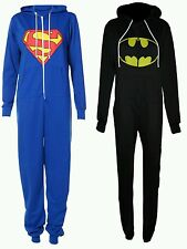 New Superman Batman hooded all in one piece oneise jumpsuit dress