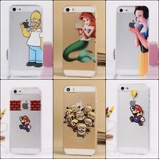 FROZEN ELSA HOMER SNOW WHITE SIMPSONS ARIEL CASE FOR APPLE IPHONE 4 4S 5 5C 5S