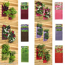 BURGON AND BALL VERTI-PLANT VERTICAL WALL PLANTERS POCKETS YARD GARDENING 2 PACK
