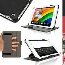 "PU Leather Skin Case Cover for Acer Iconia A1-830 7.9"" Folio Stand + Hand Strap"