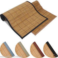 Bamboo Natural Antislip Rubber Back Kitchen Doormat Floor Mat Rug 3 Colours New
