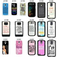 SAYINGS QUOTES COVER CASE FOR SAMSUNG GALAXY S2 S3 S4 S5 - MINI & MORE - A6