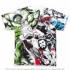 Marvel Avengers Hulk, Captain America, Iron Man, Thor Licensed T-shirt